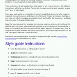 Style guide template instructions
