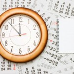 Clock and calendar with a notepad for planning ahead