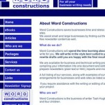 About us page Word Constructions