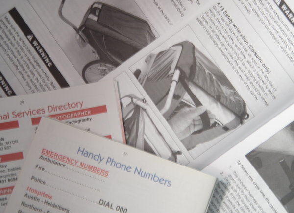 Instructions and manuals, vs directories and lists