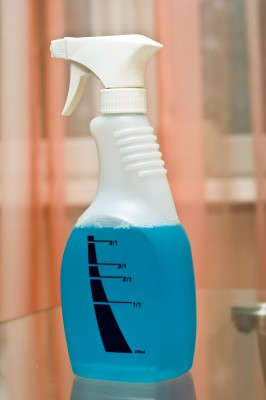bottle of cleaning liquid