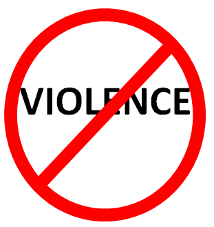 stop violence message is my choice