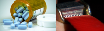 seat belts and pills - two safety items needing clear messages