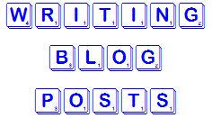 scrabble letters 'writing blog posts'