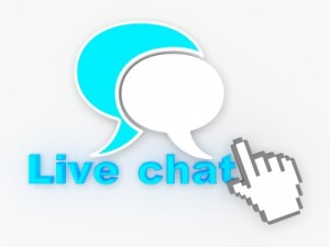 Live chat grpahic supporting a supplier review