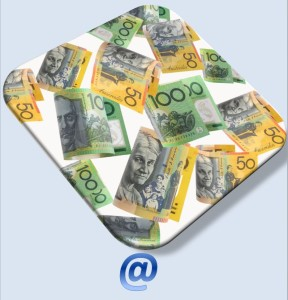 Australian money falling into email