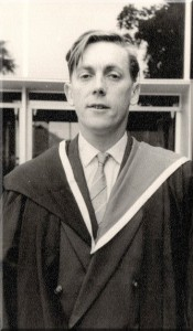 Tony Brown, Graduation photo, University of Melbourne, 1959