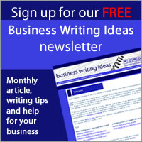business writing newsletter